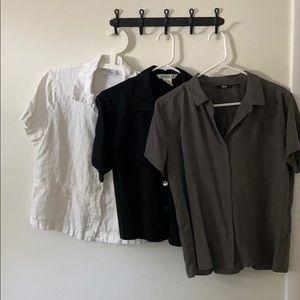 Linen/cotton button down shirts bundle